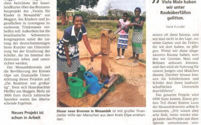 Hilfe für Brunnenbau ist angekommen
